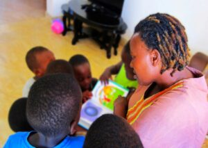 surrogate mother reading to children